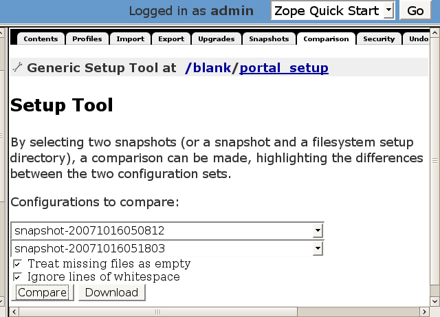 http://www.pererikstrandberg.se/blog/plone/generic_setup_compare_snapshots.png